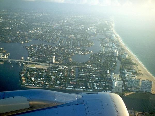 Jet Over Miami